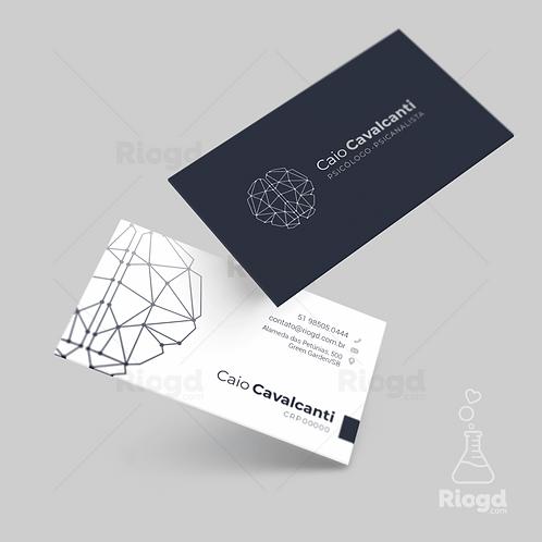 Cartão de Visita Personalizado para Psicólogos e Psicanalistas Brain