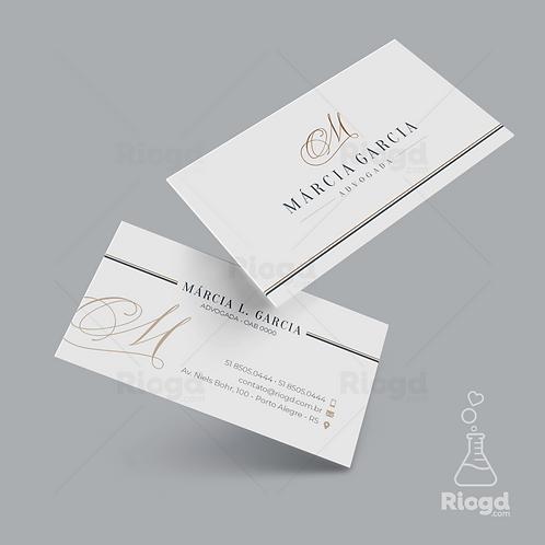 Cartão de Visita Personalizado para Advogados Elegance Milão