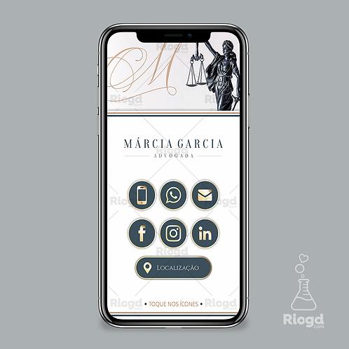 Cartão Digital Personalizado para Advogados Elegance Milão