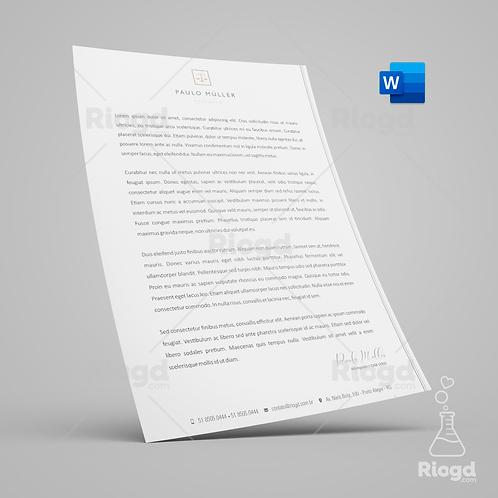 Timbrado Digital Personalizado para Advogados Contemporâneo Chumbo