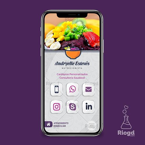 Cartão Digital Personalizado para Nutricionistas Açaí