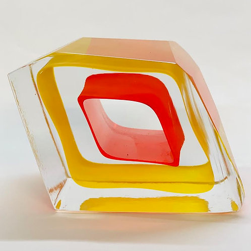 Glass Slice yellow and orange by Graeme H