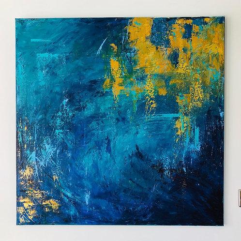 Reflections Jane Vaux 100x100cm