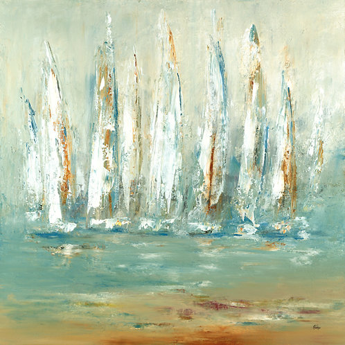 Summer Sails by Lisa Ridgers 50x50cm