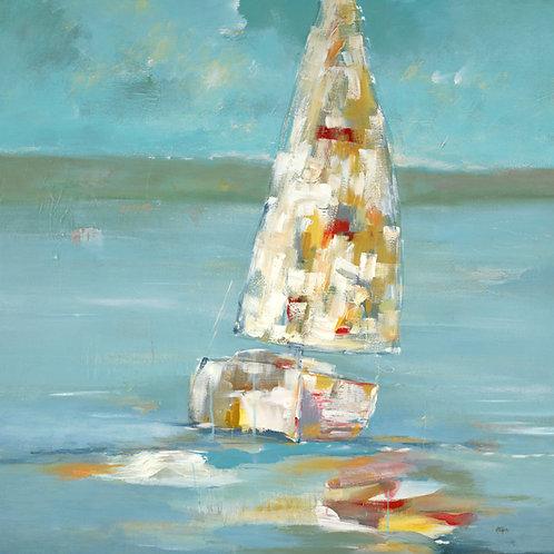 Sailing Away Time by Lisa Ridgers 23x23cm