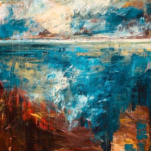 Changing Seasons by Jane Vaux 100x100cm