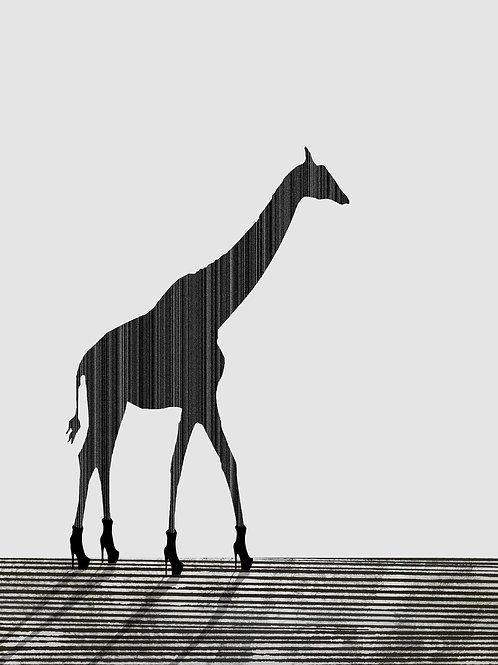 Giraffe in Heels by Rennie P 50x40cm