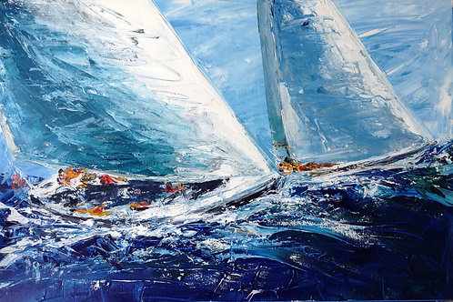 Sailing by Jane Vaux - by commission