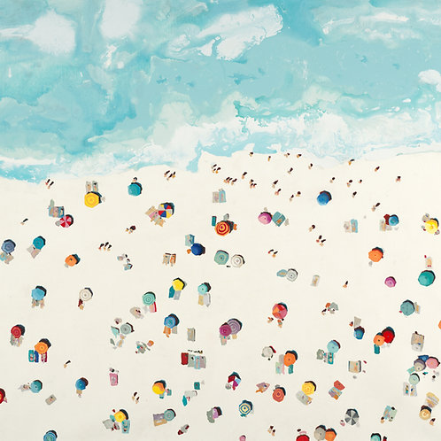 Beach Days by Randy Hibberd 30x30cm