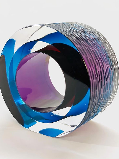 Glass Slice deep blue and purple by Graeme H