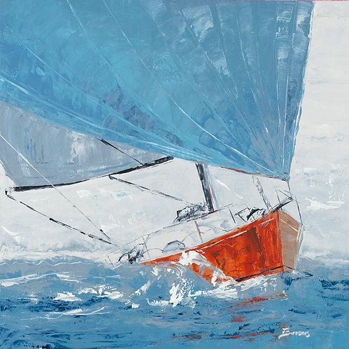 Grey Day by John Burrow 30x30cm