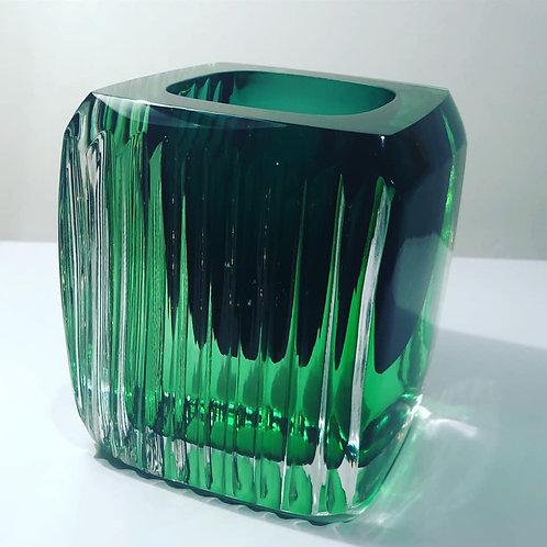 The Cube Glass green Retro by Graeme H