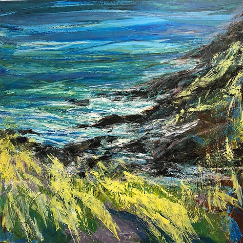 Seascape by Jane Vaux 90x90cm
