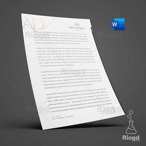 Timbrado Digital Personalizado para Advogados Golden White