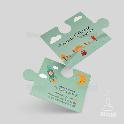 Cartão de Visita para Psicologia Infantil Quebra Cabeça - Sonhando Acordado