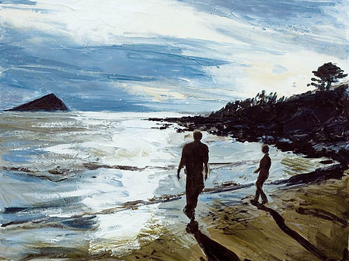 Skimming Stones by Jane Vaux 50x40cm