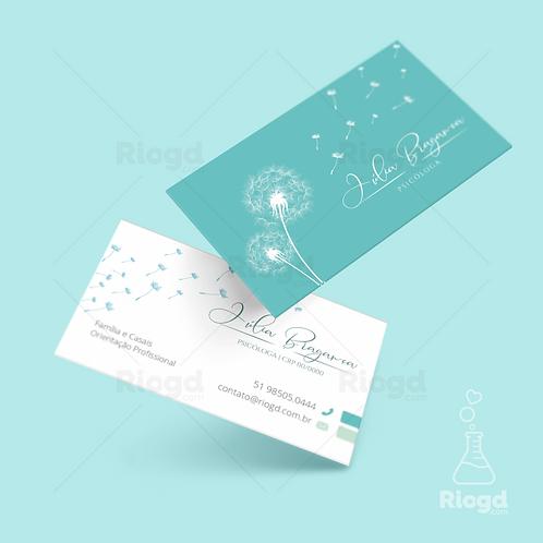 Cartão de Visita Personalizado para Psicologia Dandelion