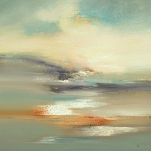 Atmospheric Scape by Lisa Ridgers 50x50cm