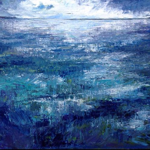 Seascape - by Jane Vaux - 90x90cm