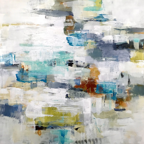 Layers of Life by Lisa Ridgers 89x89cm