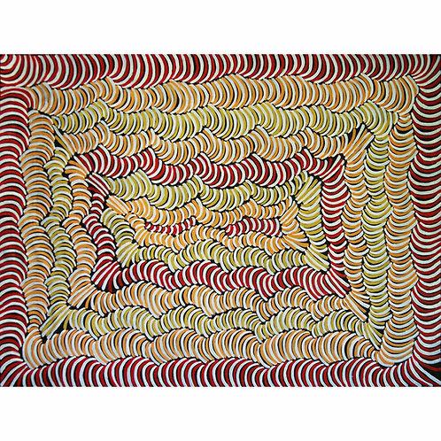 Body Paint, Violet Petyarre 164x124cm