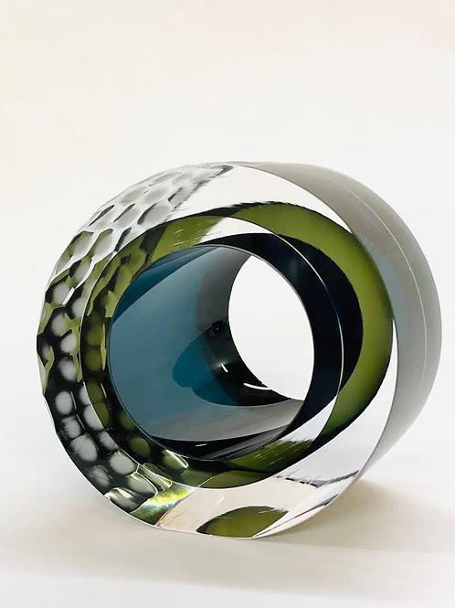 Glass Slice green & blue by Graeme H