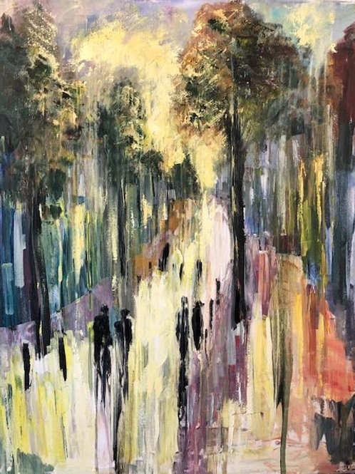 Devonshire RD Sunshine by Jane Vaux - by commission