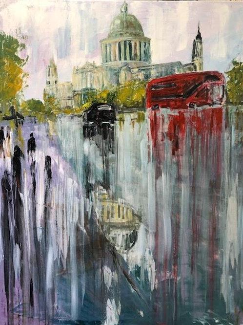 London Town by Jane Vaux 120x100cm