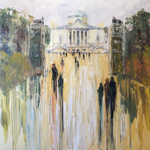 Chiswick House by Jane Vaux - 100x100cm