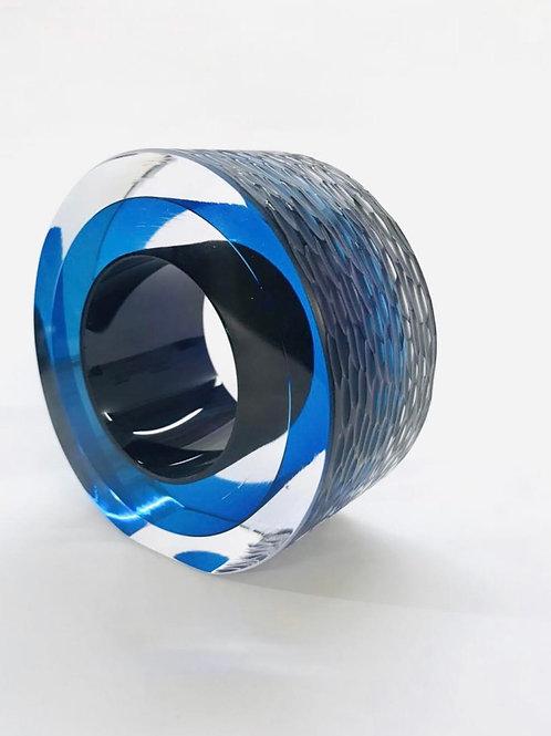 Small Cut Glass blue by Graeme H
