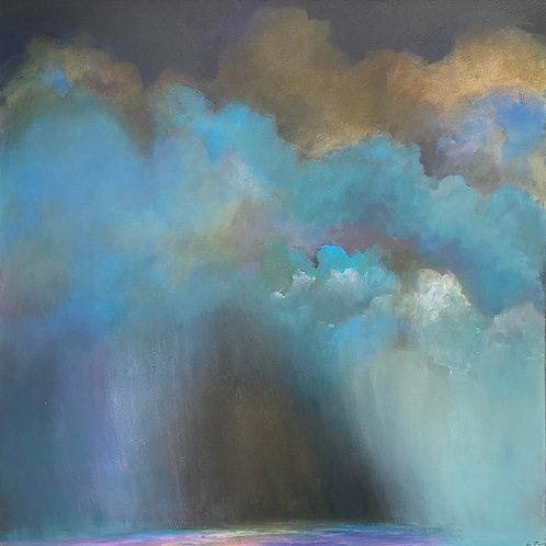Storm Approaching by Lynn Young 65x65cm