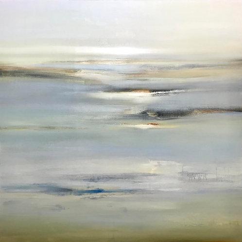 Subtle Lands by Lisa Ridgers 100x100cm