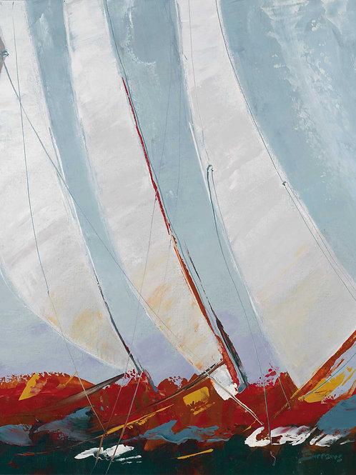 Racing The Wind by John Burrow 40x30cm