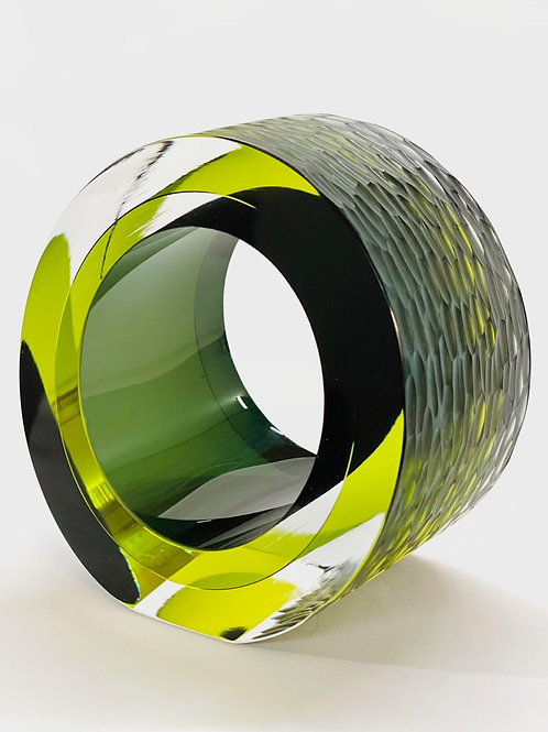 Glass Slice olive green by Graeme H