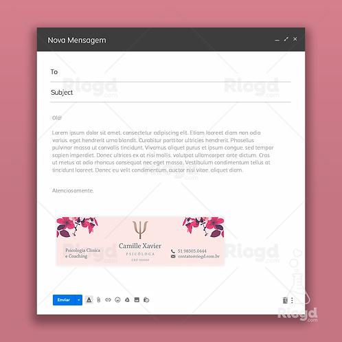 Assinatura de E-mail Personalizada para Psicólogos Flowers Fleur