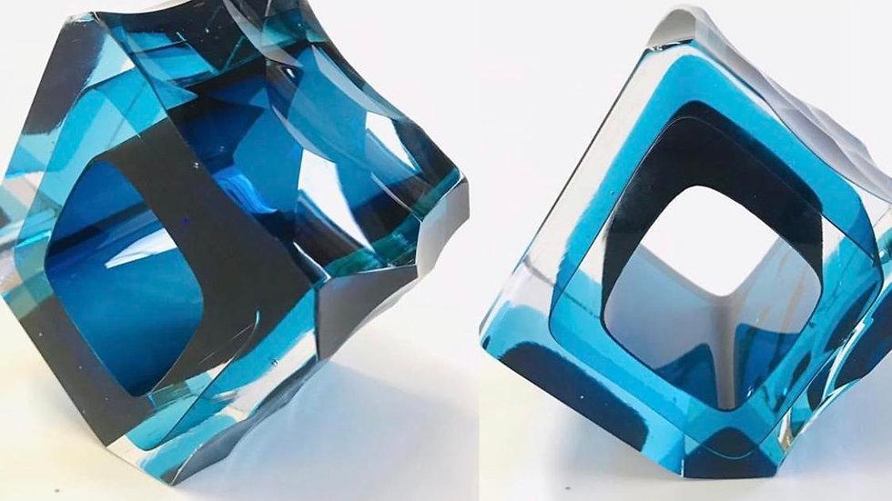 Graeme Hawes, Small cut square blue