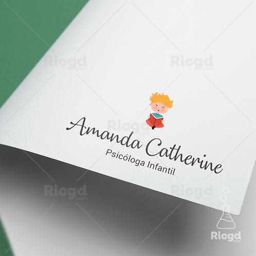 Logotipo pronto para Psicologia Infantil - Sonhando Acordado