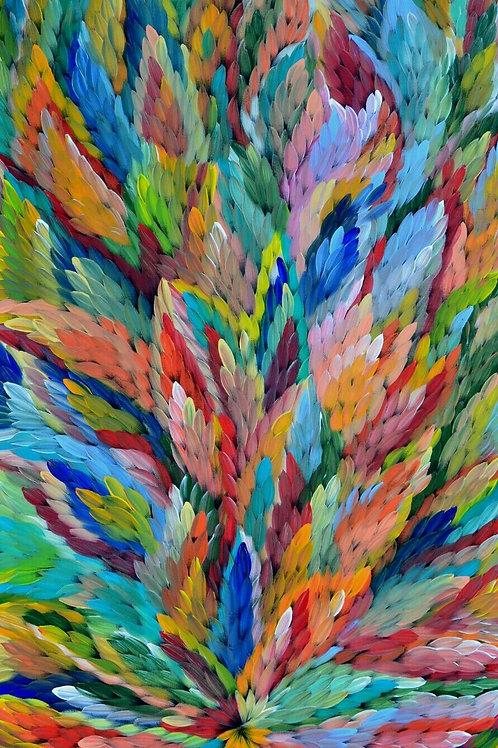 Bush Medicine Leaves, Caroline Numina 170x100cm