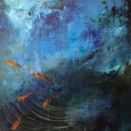 Koi Fish by Jane Vaux