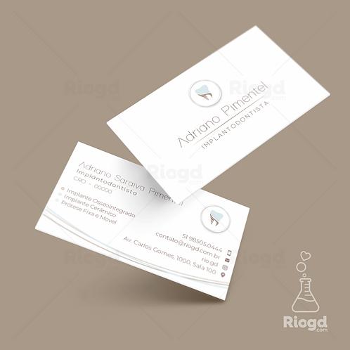 Cartão de Visita Odonto - Implantodontia