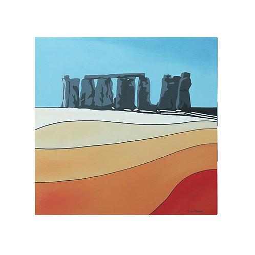 Stonehenge by Suzanne W 40x40cm