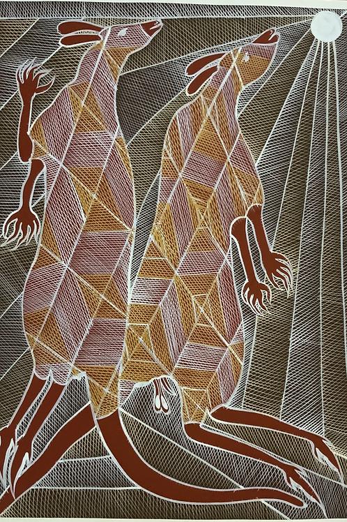 Eddie Blitner, Kangaroo Dreaming 68x47cm