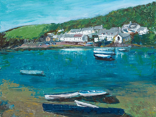 Ship At Noss by Jane Vaux 50x40cm