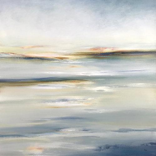 Tranquil Land by Lisa Ridgers  100x100cm