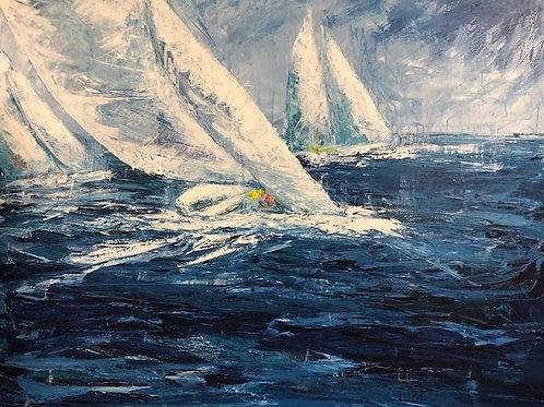Sailing by Jane Vaux 100x120cm