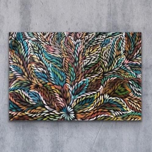 Bush Medicine Leaves, Caroline Numina 135x95cm