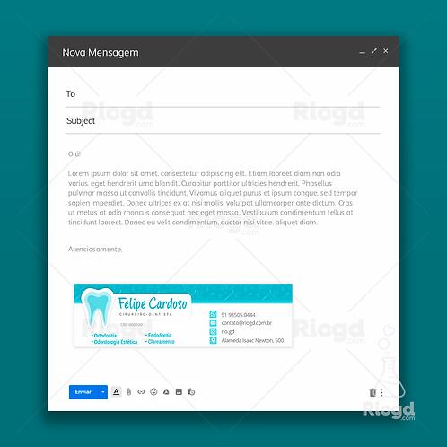 Assinatura de E-mail Personalizada para Dentistas – Especial Blue