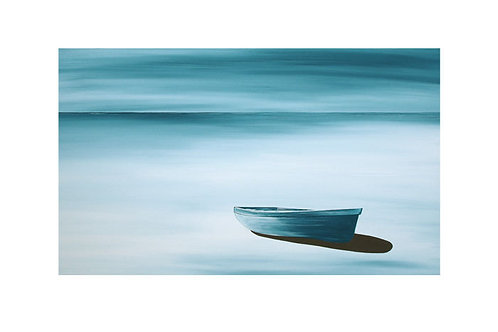 Blue Boat by Suzanne W A3
