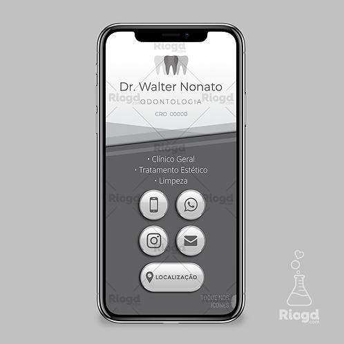 Cartão Digital Interativo - Coleção Translúcido - Dentista