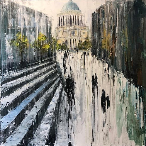St. Pauls Cathedral by Jane Vaux 90x90cm